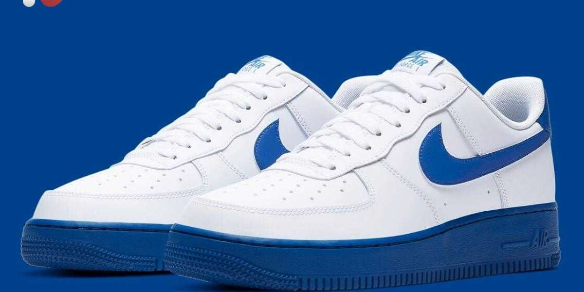 2020 New CK7663-103 Nike Air Force 1 Low White Royal Coming Soon